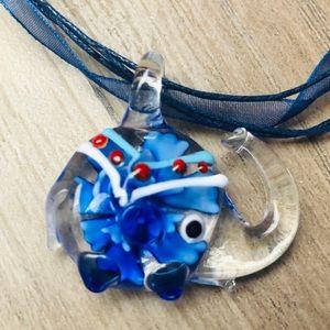 New Murano like glass elephant pendant